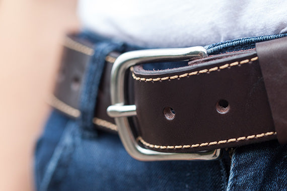 Dartmouth Belt with Stainless Steel Buckle by Tanner Bates