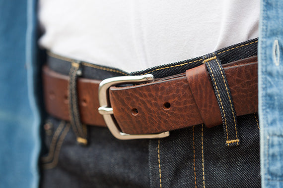 Cocoa coloured leather Dartington Belt by Tanner Bates