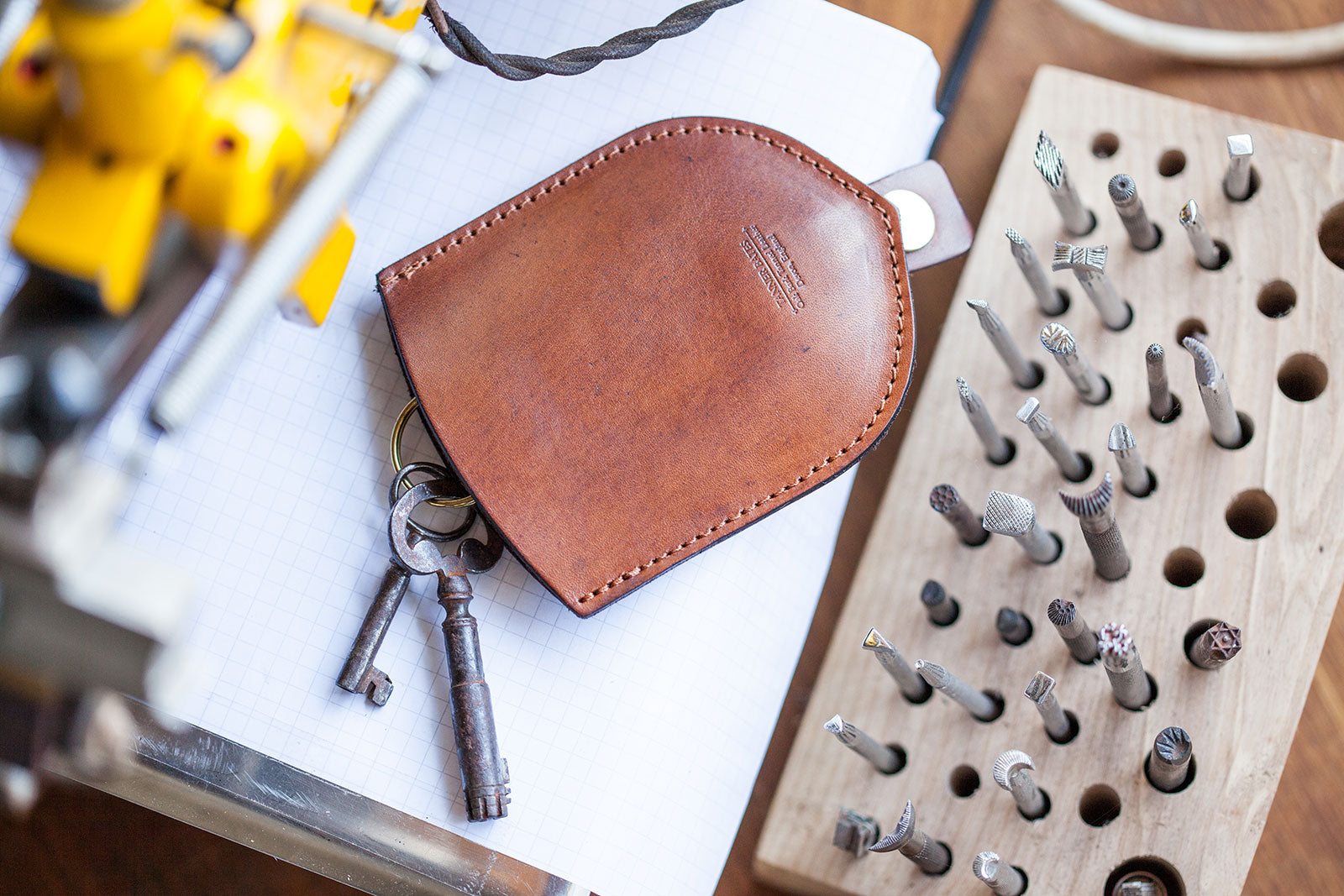 Leather Key Pouch by Tanner Bates