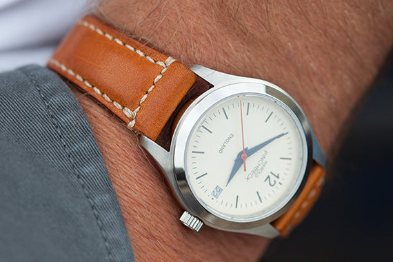London Tan Leather Watch Strap by Tanner Bates