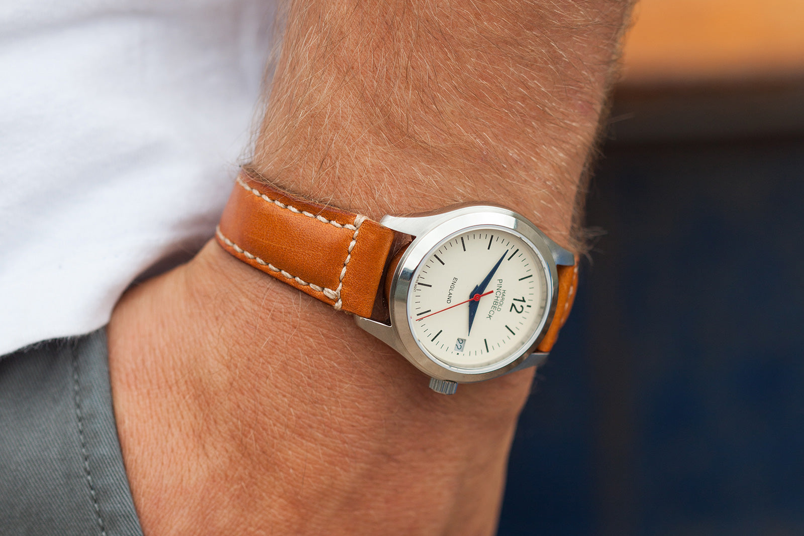 London Tan Coloured  Oak Bark Tanned Leather Watch Strap by Tanner Bates