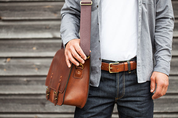 Devon Messenger Bag by Tanner Bates