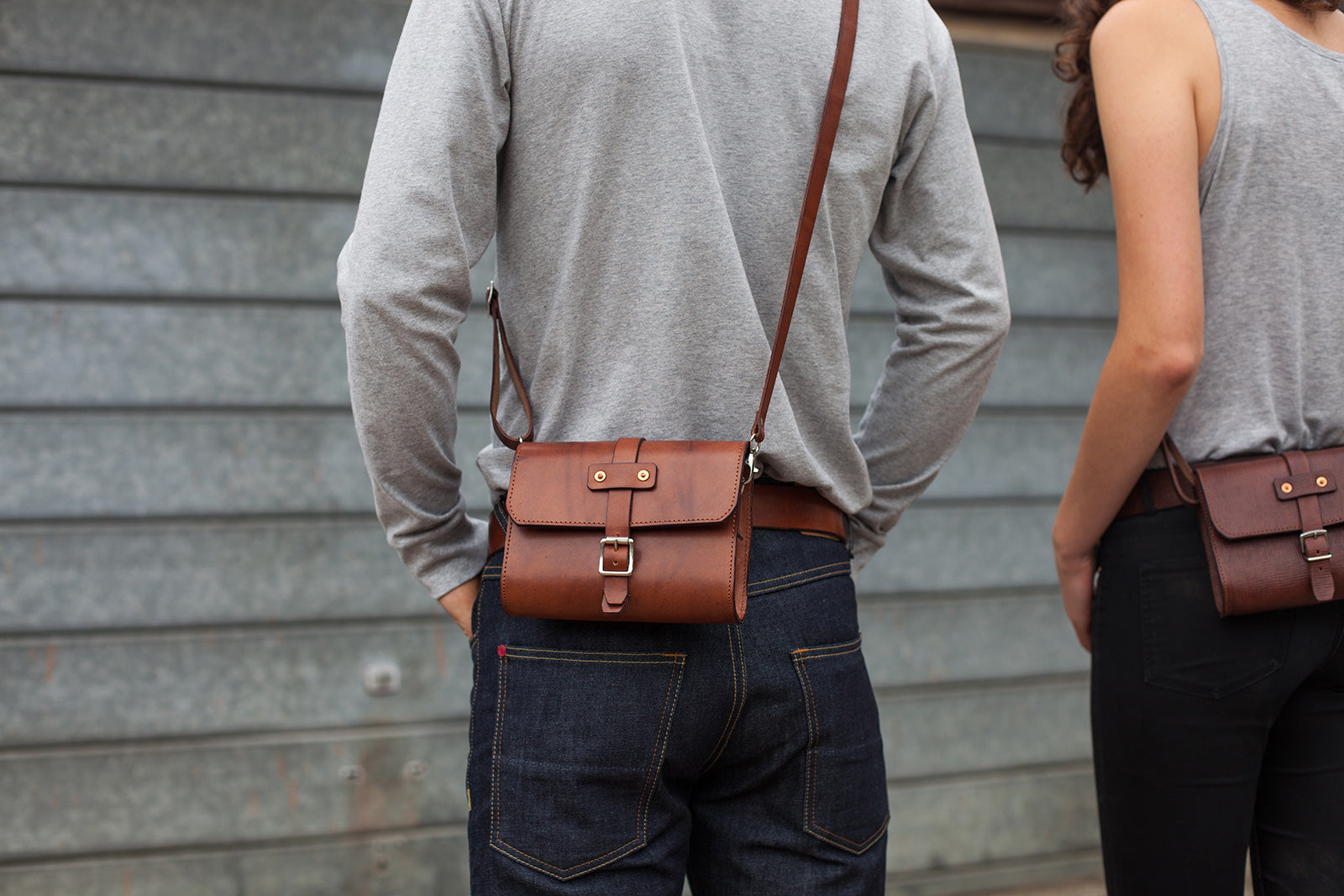 Mini Baja Travel Bag in Oak Bark Tanned Leather by Tanner Bates