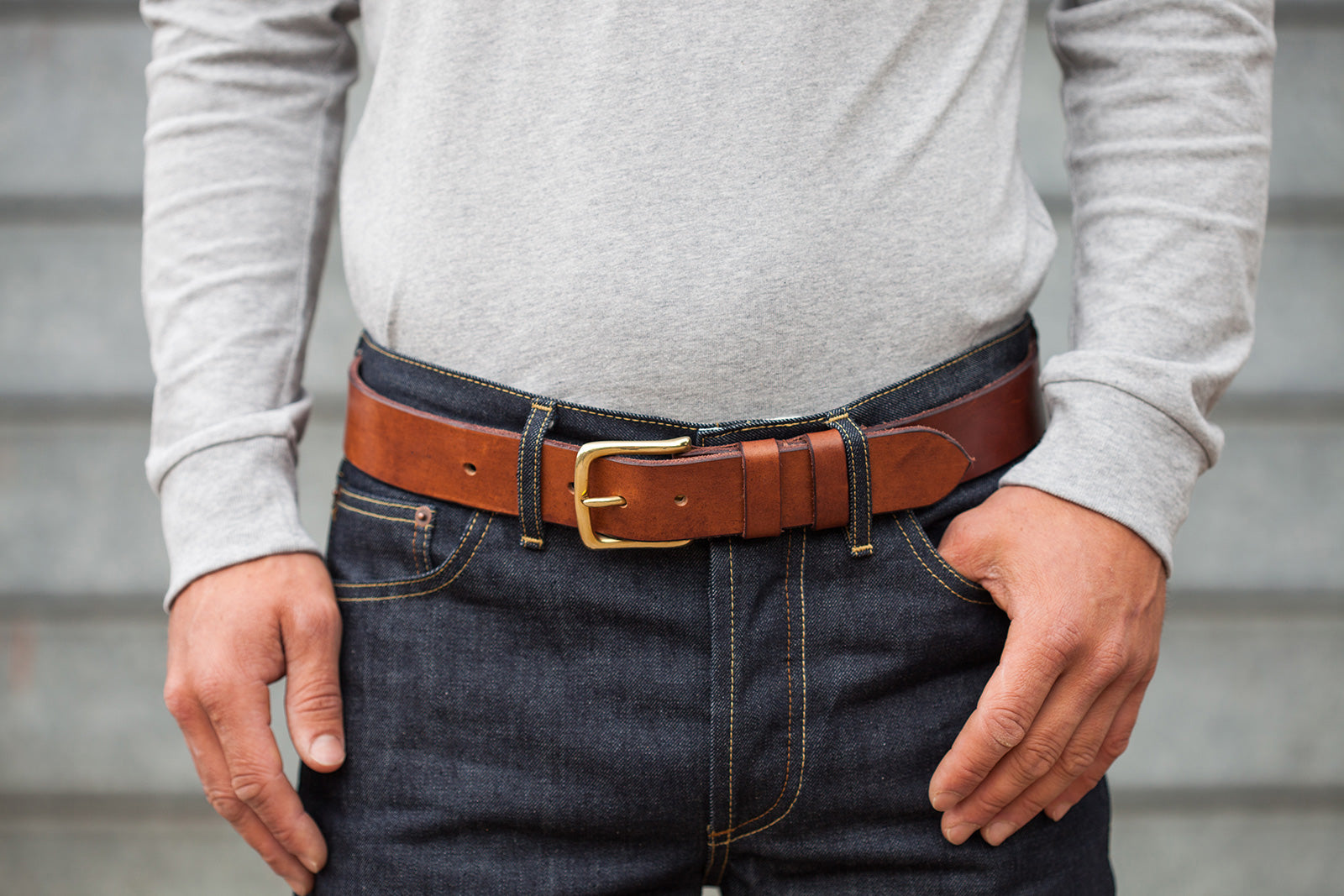 Oak Bark Tanned Leather Belt by Tanner Bates