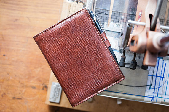Russia Kip Leather PenLoop Notebook by Tanner Bates