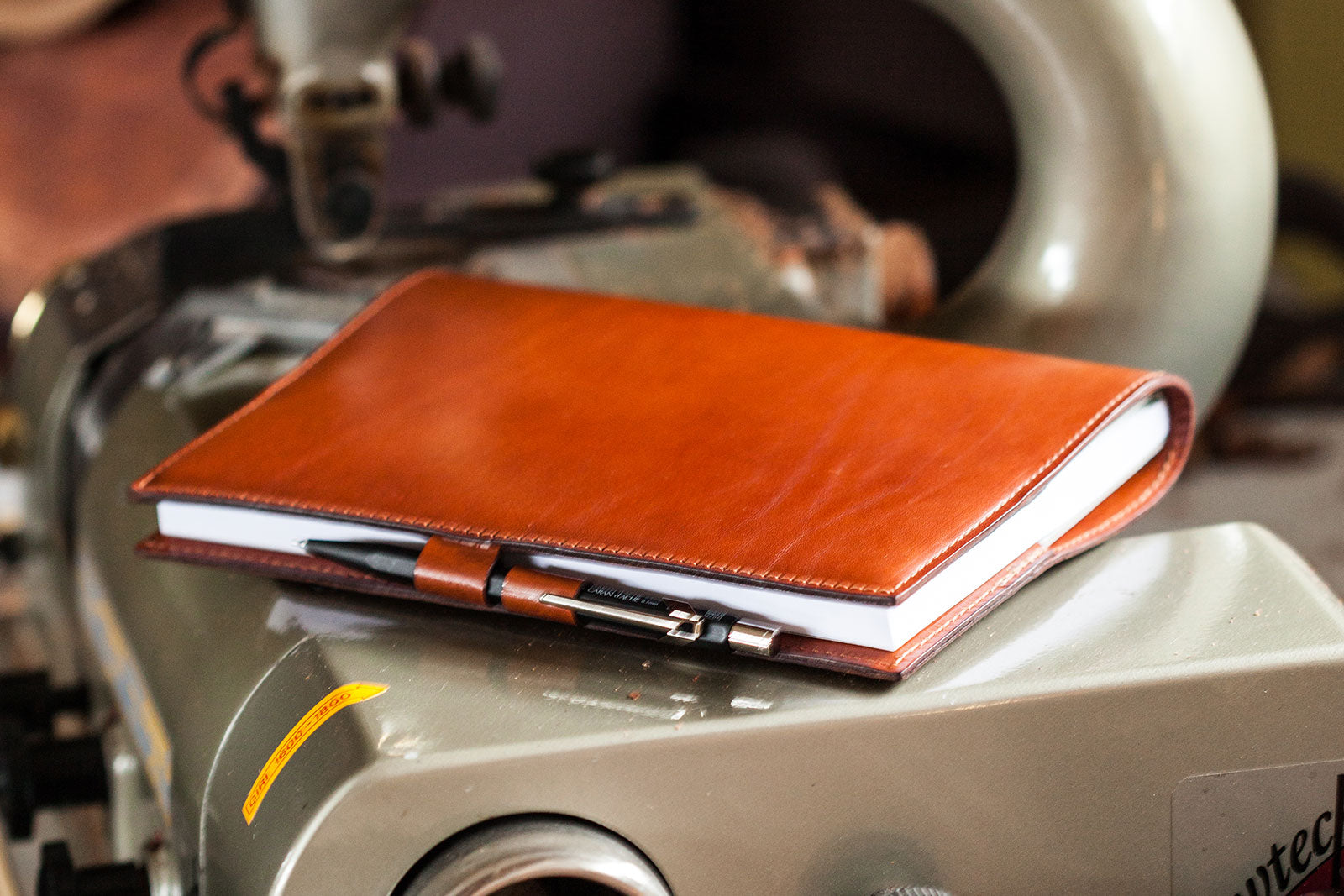Oak Bark Tanned Leather PenLoop Notebook from Tanner Bates