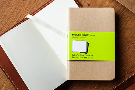 Pocket Size Moleskine re-fillable journal by Tanner Bates