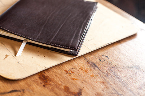 Leather Bound XL Moleskine Cahier by Tanner Bates