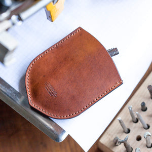 Key pouch in oak bark tanned leather