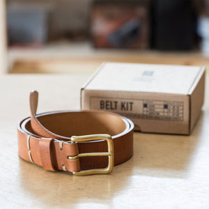 Saddle Tan Leather School® Belt Kit