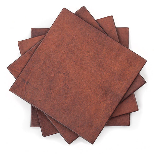 Set of Leather Coasters by Tanner Bates
