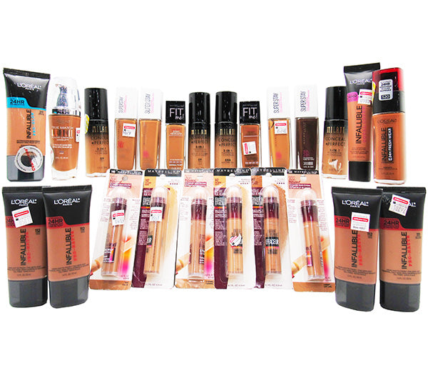 Liquidation Assorted Dark Foundation Mix 24PCS (LDFMLIQUIDATION)