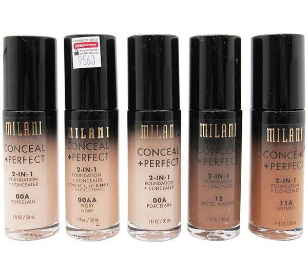 Liquidation Milani Conceal + Perfect 2-IN-1 Foundation Assorted Pack 24PCS (MIC+PLIQUIDATION)