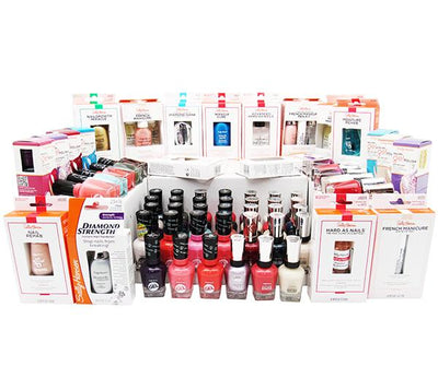 Wholesale Sally Hansen Nail Polish & Treatment Assorted Box 125PCS (SHNT)