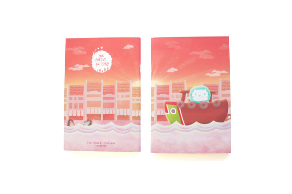 Mer Mer the Merlion A5 Notebook Sunset Edition
