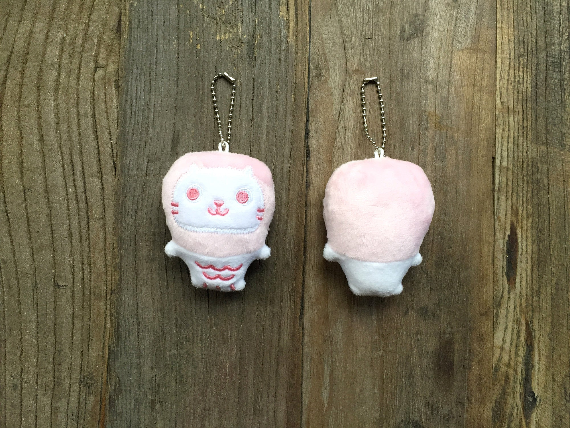 Mer Mer the Merlion Pink Plush Keychain