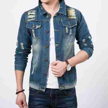 Men's Denim Jacket, Jean Jacket. Explore our collection of mens denim jackets, jean jackets, hooded denim jackets, ragged denim jackets and other mens denim clothing at LeStyleParfait.Co.Ke.