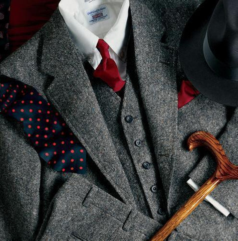 3-Piece Men's Suit Tweed Plus Size Suit-Suit-Kenya-LeStyleParfait.Co.Ke