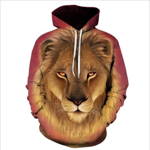 3D Men's Hoodies Lion Print Hoodies-Hoodie-Kenya-LeStyleParfait.Co.Ke