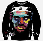 3D Print Men's Sweatshirt Fashion Sweatshirt Black Face Print Sweatshirts-Men Sweatshirts-LeStyleParfait.Co.Ke