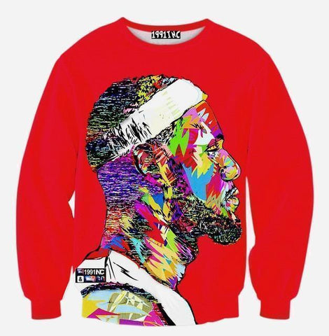 3D Print Men's Sweatshirt Fashion Sweatshirt Red-Men Sweatshirts-LeStyleParfait.Co.Ke