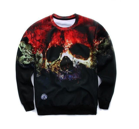3D Print Men's Sweatshirt Fashion Sweatshirt Skull Print 3D Sweatshirts-Men Sweatshirts-LeStyleParfait.Co.Ke