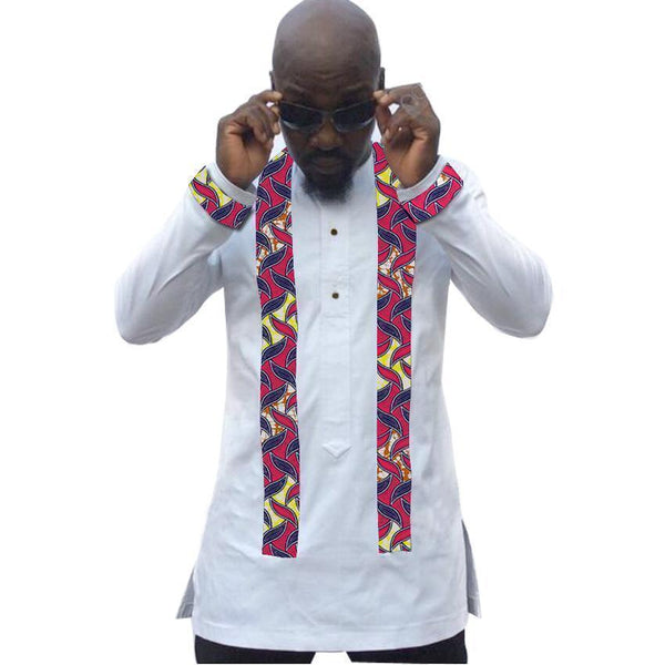 African Men's Shirts Custom Made Dashiki Kitenge Shirts-Shirt-Kenya-LeStyleParfait.Co.Ke