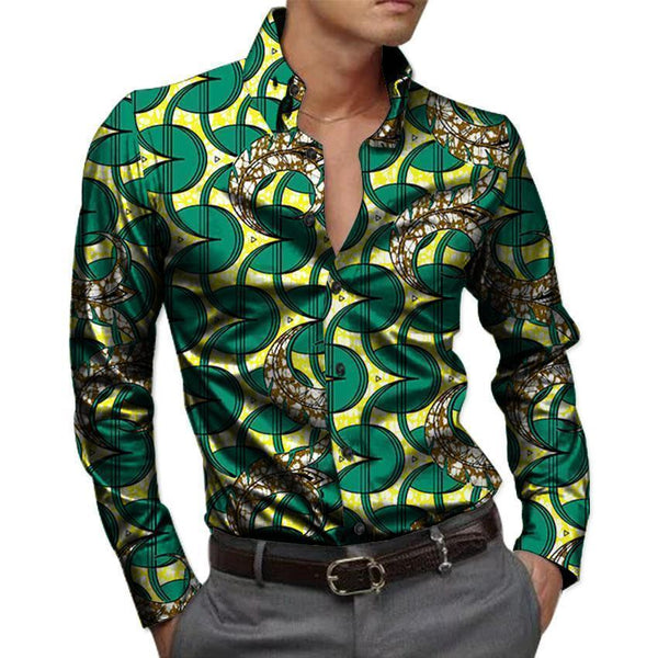 African Men's Shirts Kitenge Dashiki Shirt-Shirt-Kenya-LeStyleParfait.Co.Ke