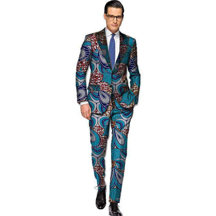 African Men's Suits, Kitenge Dashiki Suits, African Men's Clothing-Suit-Kenya-LeStyleParfait.Co.Ke