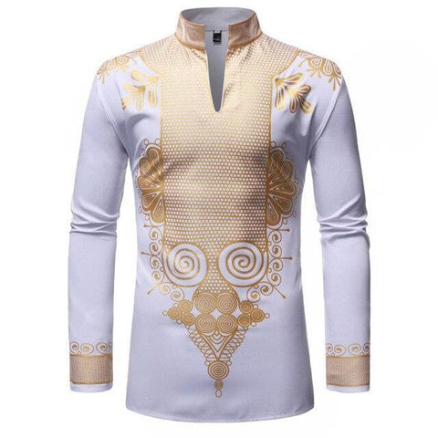 African Wedding Shirt For Men-Shirt-White-Le Style Parfait Kenya