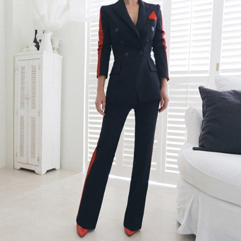 Amani Double-Breasted Women's Suit-Suit-LeStyleParfait.Co.Ke