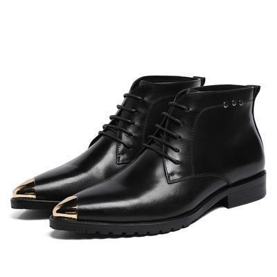 Ankle Boots Men's Boots Genuine Leather Shoes-Shoes-LeStyleParfait.Co.Ke