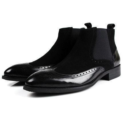 Ankle Boots Men's Leather Bootkes Dress Shoes-Shoes-LeStyleParfait.Co.Ke
