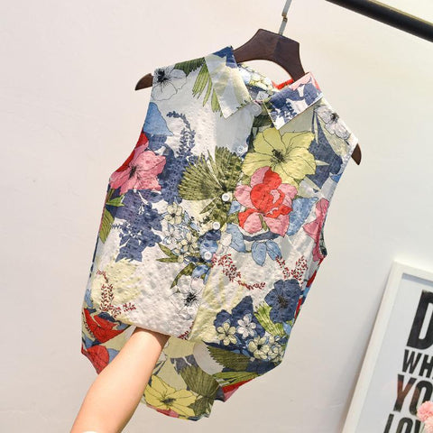 Ava Floral Shirt For Women-Blouse-LeStyleParfait.Co.Ke