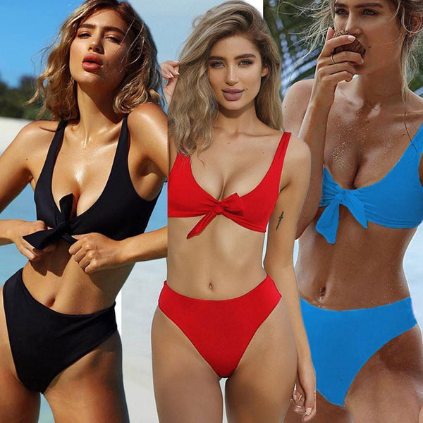 Beach Bikini Set Women Sexy Swimsuit Padded Bra Swimwear-Bikini-Kenya-LeStyleParfait.Co.Ke