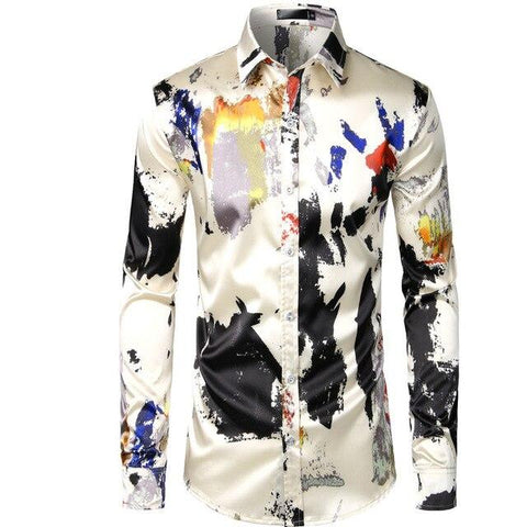 Benetton Silk Satin Shirt For Men-Shirt-LeStyleParfait.Co.Ke