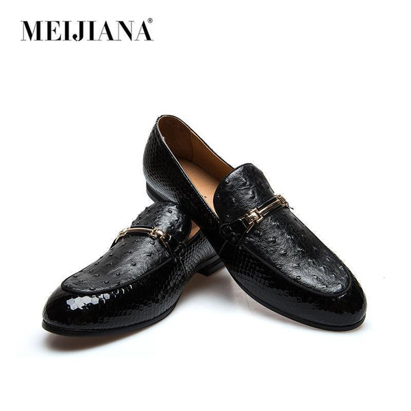 Black Loafers Men's Leather Shoes Casual Brand Shoes-Shoes-LeStyleParfait.Co.Ke