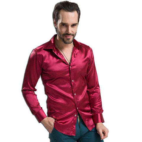 Bolan Satin Silk Shirt For Men-Shirt-LeStyleParfait.Co.Ke