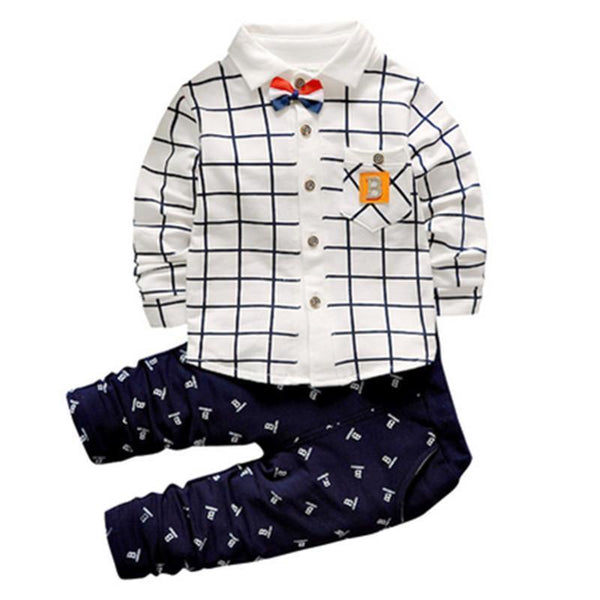 Boys Casual Clothing Suits, Shirts and Trousers For Kids 2-5 Years-Children's Clothing Set-LeStyleParfait.Co.Ke