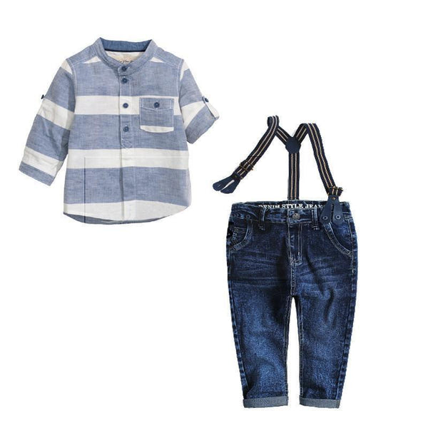 Boys Fashion Suits, Jean Overalls, Shirts and Suspenders 2-7 Years-Children's Clothing Set-LeStyleParfait.Co.Ke