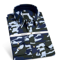 Camouflage Men's Shirts, Camouflage Cotton Shirts, Oxford Shirts-Shirt-Kenya-LeStyleParfait.Co.Ke