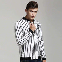 Casual Jackets For Men, Thin Top Quality Mens Jackets, Stripêd-Jacket-Kenya-LeStyleParfait.Co.Ke
