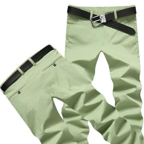 Casual Men's Formal Trousers Men's Pants Pale Green-Men's Pants-Kenya-LeStyleParfait.Co.Ke