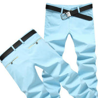 Casual Men's Formal Trousers Men's Pants Sky Blue-Men's Pants-Kenya-LeStyleParfait.Co.Ke