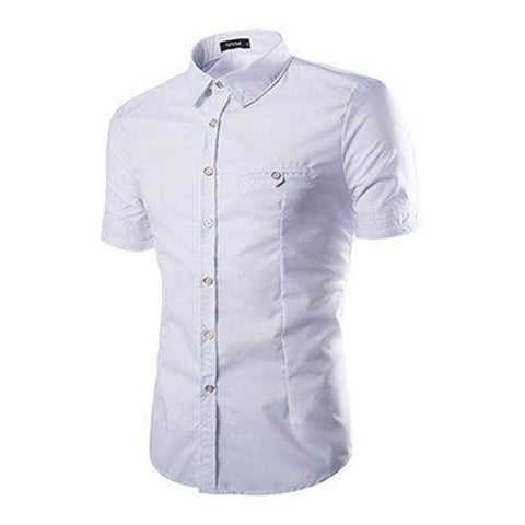 Casual Men's Shirt, Short Sleeves, Casual Slim Fit, Summer Shirts-Shirt-Kenya-LeStyleParfait.Co.Ke