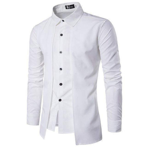 Casual Mens Shirts, Fake Piece Dress Shirt, Slim Fit Shirt-Shirt-Kenya-LeStyleParfait.Co.Ke