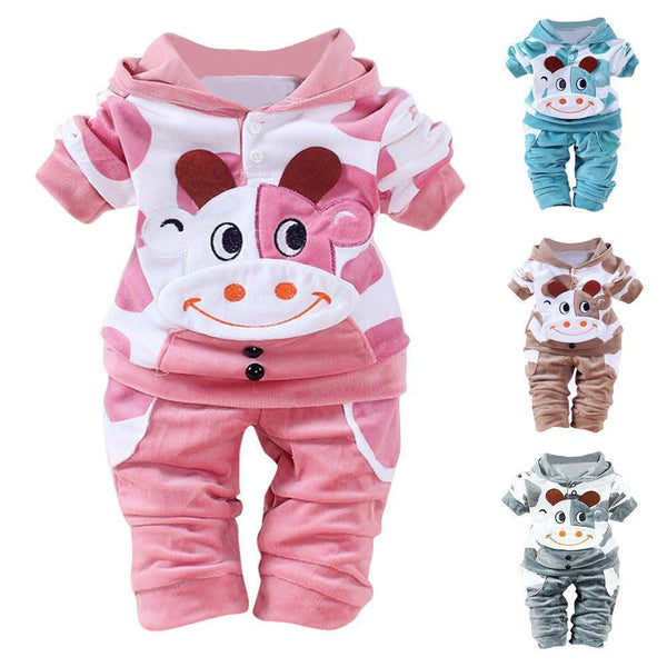 Children's Clothing Sets Warm Hooded Newborn Babies Girls Boys-Children's Clothing Set-Kenya-LeStyleParfait.Co.Ke