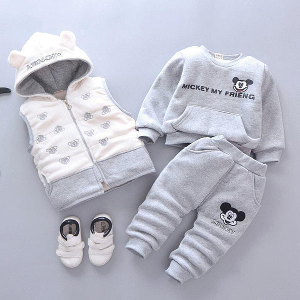Clothing Set, Infant Kids Vest, Sweatshirt & Pants-Kids Clothing Set-Kenya-LeStyleParfait.Co.Ke