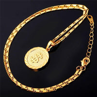 Coin Hip Hop Necklace US Dollar Pendant Fashion Jewelry Silver Gold Color-Necklaces & Chains-LeStyleParfait.Co.Ke