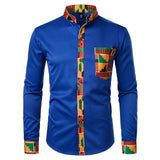 Dashiki African Shirt For Men-Shirt-Blue-Le Style Parfait Kenya